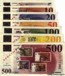 Série Euros : 5 10 20 50 100 200 500 EUROPE  1998 €.--s NEUF
