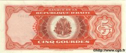 5 Gourdes HAÏTI  1989 P.255 NEUF