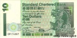 10 Dollars HONG KONG  1995 P.284b NEUF
