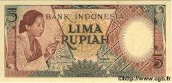 5 Rupiah INDONÉSIE  1958 P.055 SUP