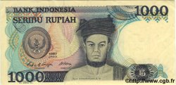 1000 Rupiah INDONÉSIE  1987 P.124a SUP+