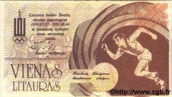1 Litauras LITUANIE  1991 P.- NEUF