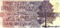 5 Litaurai LITUANIE  1991 P.- NEUF