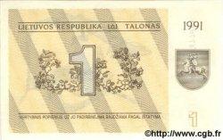 1 Talonas LITUANIE  1991 P.32b NEUF