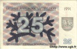 25 Talonu LITUANIE  1991 P.36b SPL
