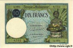 10 Francs MADAGASCAR  1937 P.36 NEUF