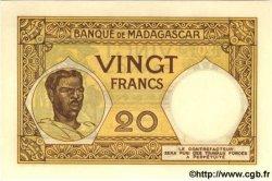 20 Francs MADAGASCAR  1937 P.37 NEUF