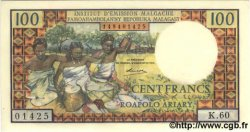 100 Francs - 20 Ariary MADAGASCAR  1966 P.57 NEUF