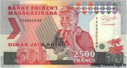 2500 Francs = 500 Ariary MADAGASCAR  1993 P.77 NEUF