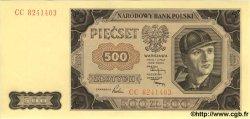 500 Zlotych POLOGNE  1948 P.140a NEUF