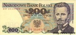 200 Zlotych POLOGNE  1986 P.144c NEUF