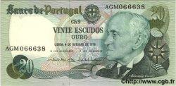 20 Escudos PORTUGAL  1978 P.176b NEUF