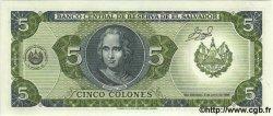 5 Colones SALVADOR  1990 P.138 NEUF