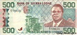 500 Leones SIERRA LEONE  1991 P.19 SUP