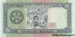 20 Manat TURKMÉNISTAN  1995 P.04b NEUF