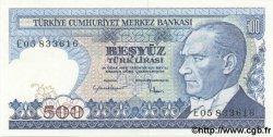 500 Lira TURQUIE  1984 P.195 NEUF