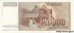 20 000 Dinara YOUGOSLAVIE  1987 P.095 NEUF
