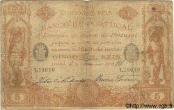 5000 Reis PORTUGAL  1886 P.060 pr.TB