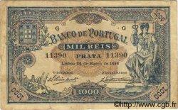 1000 Reis PORTUGAL  1896 P.073 TB+