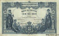 100000 Reis PORTUGAL  1908 P.078 TTB