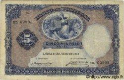 5000 Reis PORTUGAL  1903 P.083 TB