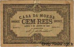 100 Reis PORTUGAL  1891 P.089 TB