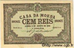 100 Reis PORTUGAL  1891 P.089 pr.NEUF