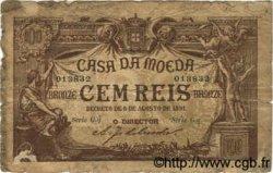 100 Reis PORTUGAL  1891 P.090 B