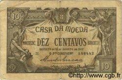 10 Centavos PORTUGAL  1917 P.093a TB
