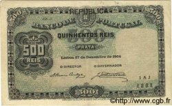 500 Reis PORTUGAL  1904 P.105a TTB