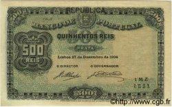 500 Reis PORTUGAL  1904 P.105a SUP+