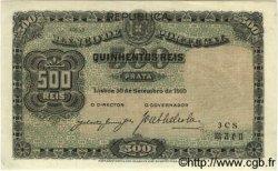 500 Reis PORTUGAL  1910 P.105a SPL