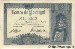 1000 Reis PORTUGAL  1910 P.106 SPL