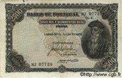 2500 Reis PORTUGAL  1909 P.107 pr.TTB