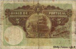 5 Escudos PORTUGAL  1919 P.114 B à TB