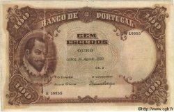100 Escudos PORTUGAL  1920 P.124 TB
