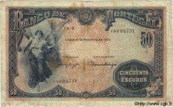 50 Escudos PORTUGAL  1922 P.128 B+