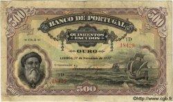 500 Escudos PORTUGAL  1922 P.130 B+