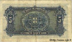 5 Escudos PORTUGAL  1925 P.133 TB à TTB