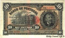 10 Escudos PORTUGAL  1925 P.134 TB+