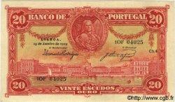 20 Escudos PORTUGAL  1925 P.135 TTB+