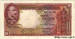 20 Escudos PORTUGAL  1938 P.143 TTB