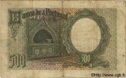 500 Escudos PORTUGAL  1938 P.151 pr.TB