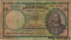 20 Escudos PORTUGAL  1954 P.153a B+