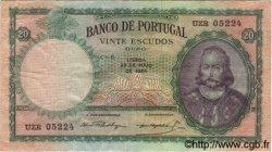 20 Escudos PORTUGAL  1954 P.153a TTB