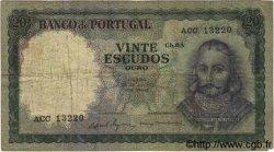 20 Escudos PORTUGAL  1960 P.163 B+