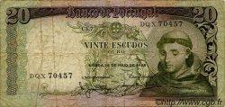 20 Escudos PORTUGAL  1964 P.167 TB