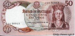 50 Escudos PORTUGAL  1964 P.168 NEUF