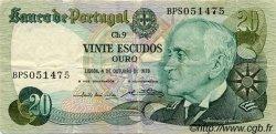 20 Escudos PORTUGAL  1978 P.176b B