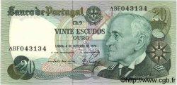 20 Escudos PORTUGAL  1978 P.176b SPL